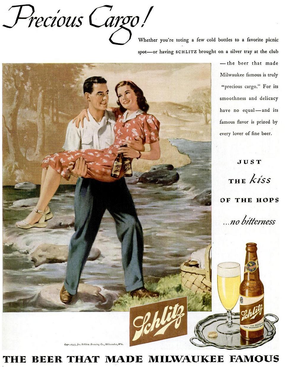 ad Schlitz beer 1945